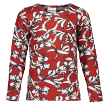 Metsola - Bowtie LS tee, windsor red