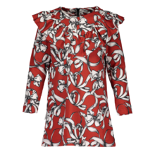 Metsola - Bowtie dress, windsor red