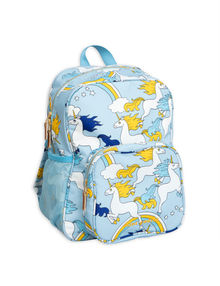 Mini Rodini - Unicorn school bag, light blue