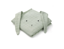 Liewood - Hannah muslin cloth rabbit / 2 pack, dusty mint