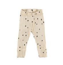 Mini Sibling - Ribbed Slim Pants w-cuffs, Oatmeal