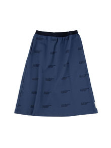 Tinycottons - ´le concierge´ FT mid-length skirt, light navy/navy