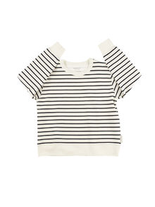 Tinycottons - Small stripes FT sweatshirt, off-white/navy
