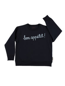 Tinycottons - ´bon appétit !´ graphic FT sweatshirt, navy/light blue