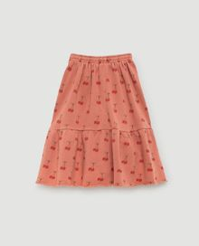 TAO - Cat kids skirt orange cherries