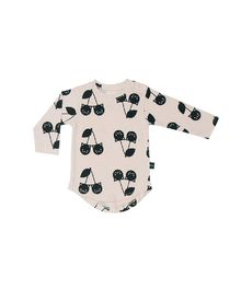 Huxbaby - Cherry cat LS tee, shell