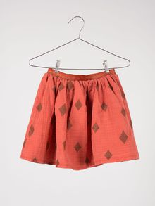 Bobo Choses - Flared skirt diamond sky, orange rust
