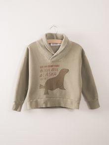 Bobo Choses - Fisherman Sweatshirt Green Otarii