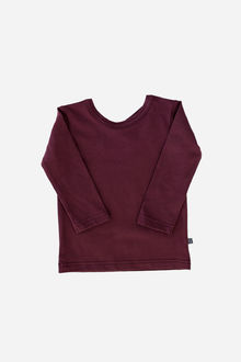 Kaiko - Cross shirt LS, burgundy