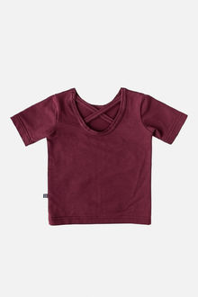 Kaiko - Cross shirt SS, Burgundy