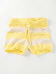 Bobo Choses -  Knitted shorts, yellow stripes