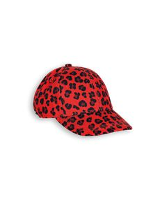 mini rodini - Leopard cap, red