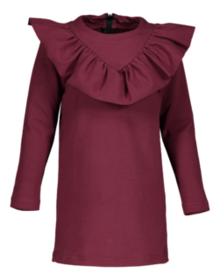 Metsola - Frill tunic dress, burgundy
