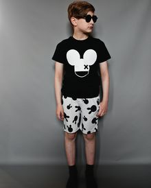 Beau LOves - Fin tee SS, mouse X, inky black