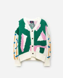 TAO - Peasant kids cardigan, green grass