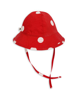 Mini Rodini - Dot sun hat, Red