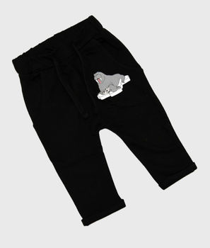 Tao and friends - Walrus baby sweatpants, black