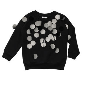 Beau LOves - Atom sequins jumper ghosts, charcoal