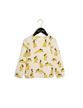 mini rodini - Bunny LS tee, yellow