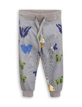 mini rodini - Butterflies sweatpants, grey