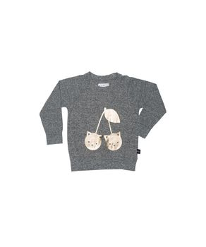 Huxbaby - Cherry cat sweatshirt, grey