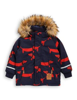 mini rodini - K2 AOP dog parka, navy