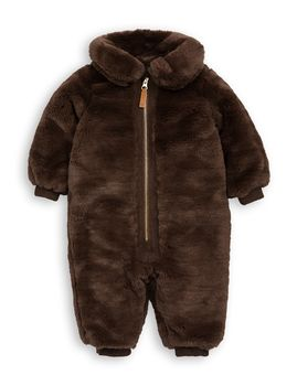 mini rodini - Faux fur overall, brown