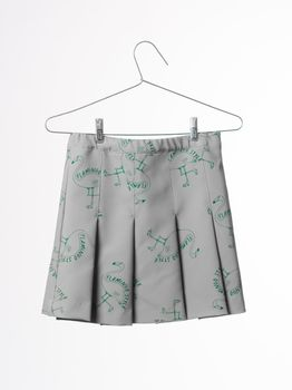 Bobo Choses - Pleated skirt flamingos, chateau