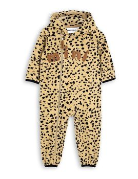 mini rodini - Fleece spot onesie, beige