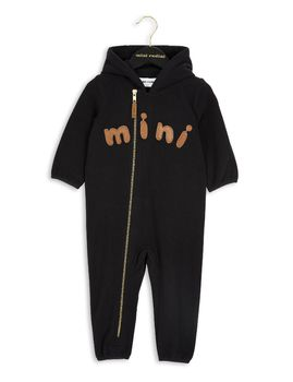 mini rodini - Fleece onesie, black