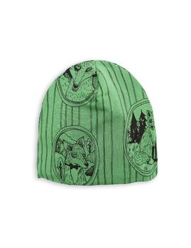 mini rodini - Fox family beanie, green