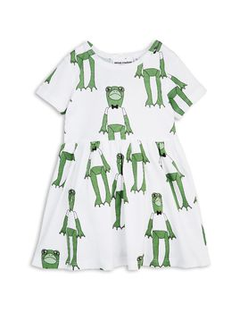 mini rodini - Frogs SS dress, green
