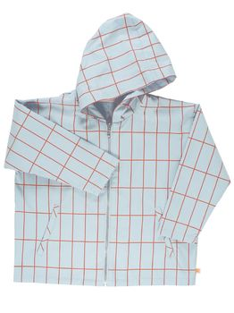 Tinycottons - Grid woven oversized jacket, pale blue