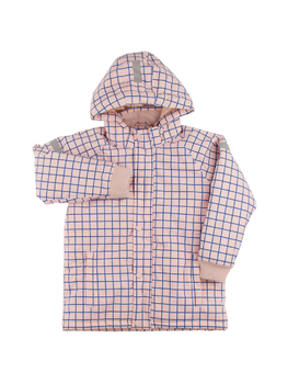 Tinycottons - Grid snow jacket, pale pink/blue