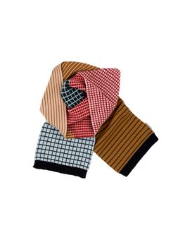 Tinycottons - Lines and grid scarf, multicolor