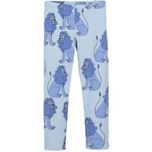 mini rodini - Lion leggings, lt blue