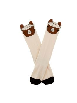 Tinycottons - Llamas heads high socks, off white