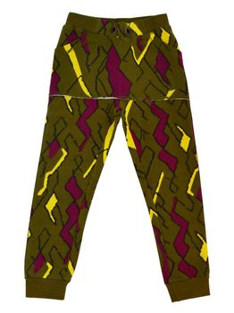 Mainio - Sweat pants, olive/wine red/yellow