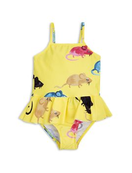 mini rodini - MR mouse skirt swimsuit, yellow