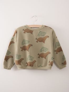 Bobo Choses - Sweatshirt Green Otariinae AO