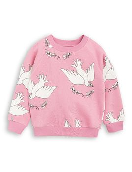 mini rodini - Peace sweatshirt, pink
