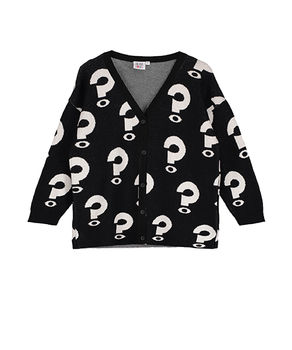 Beau LOves - Knit oversized cardigan question mark, black