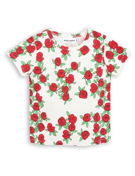 mini rodini - Rose SS tee, white