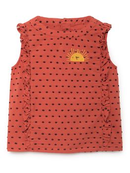 Bobo Choses - Sun Ruffles Shirt, red