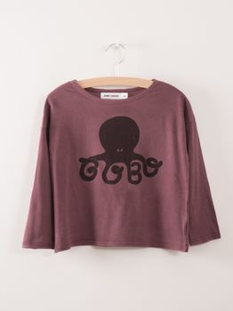 Bobo Choses - T-Shirt Octopus, aubergine