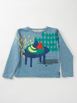 Bobo Choses - Sweatshirt Still life, steel blue