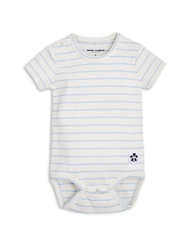 mini rodini - Stripe rib SS body, lt blue