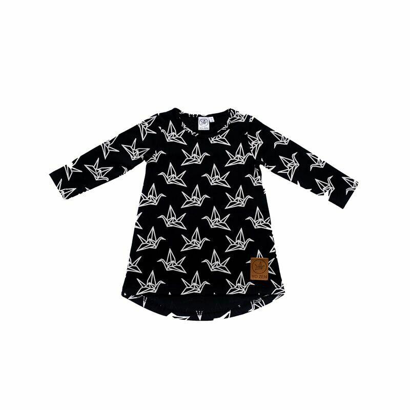 YO ZEN Dress LS, black | pikkuOtus