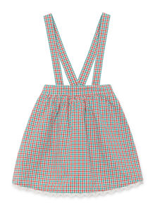Bobo Choses - Vichy Braces Skirt, Blanc de (119106)