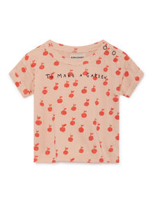 Bobo Choses - Apples Short Sleeve T-Shirt, Rose Dust (119154)